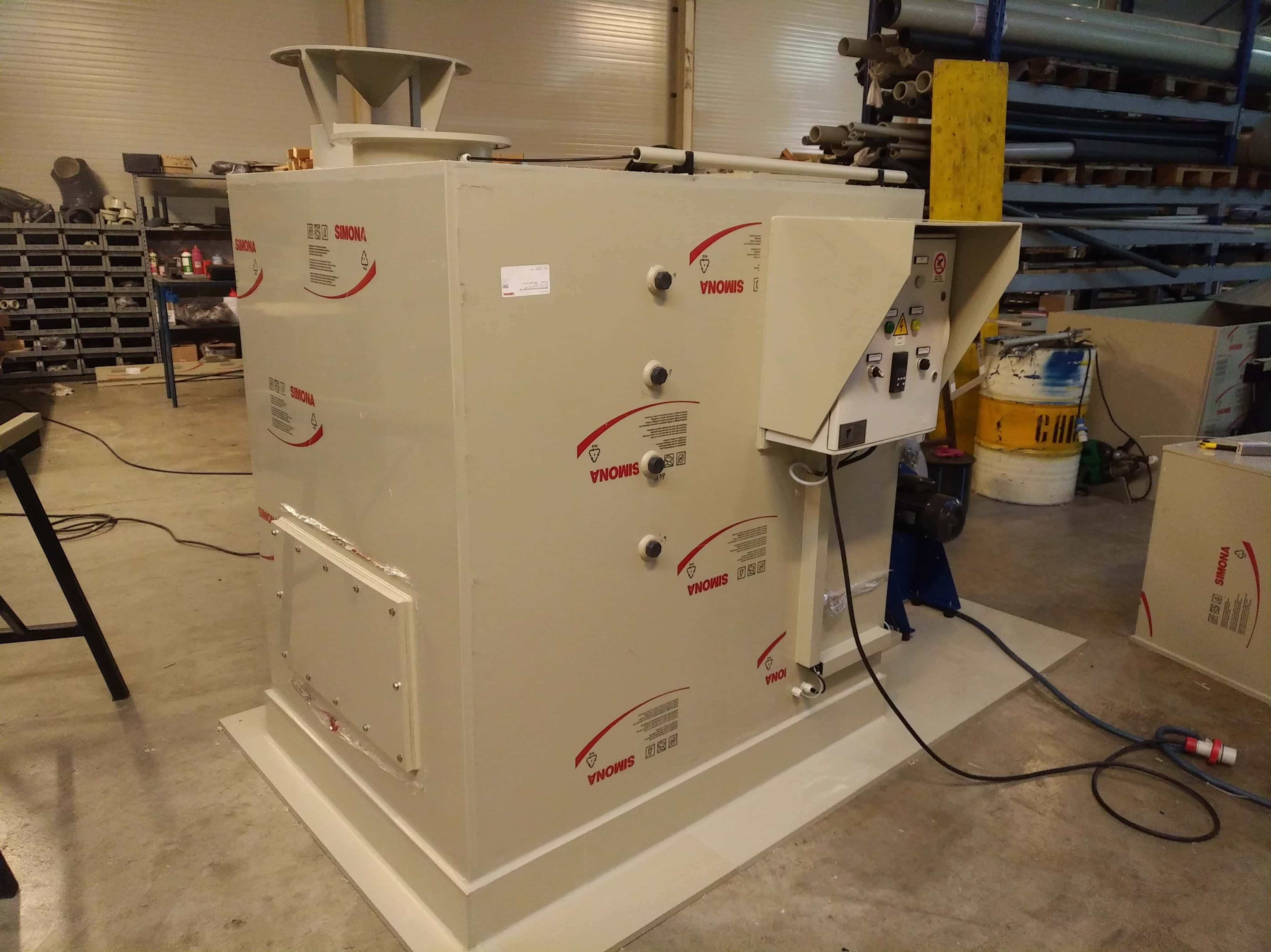 Filtro a carbone con analizzatore per Idrogeno Solforato