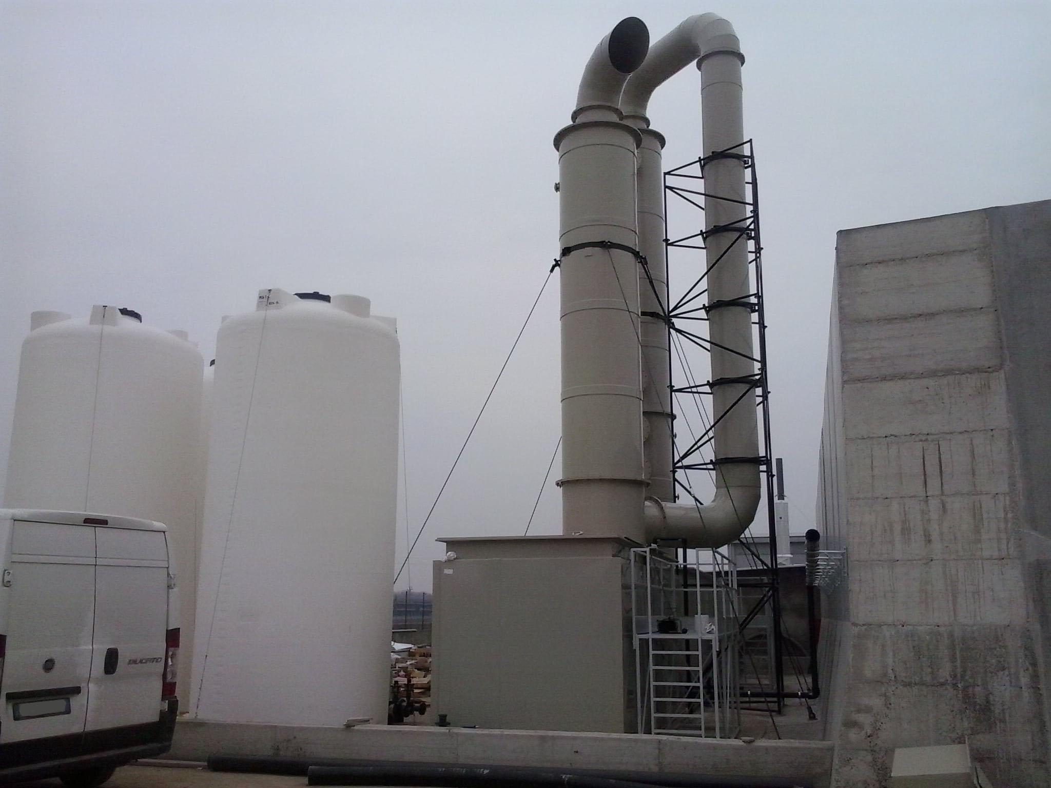 Impianto strippaggio ammoniacale