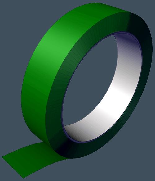 Nastro verde in poliestere - serie NPV